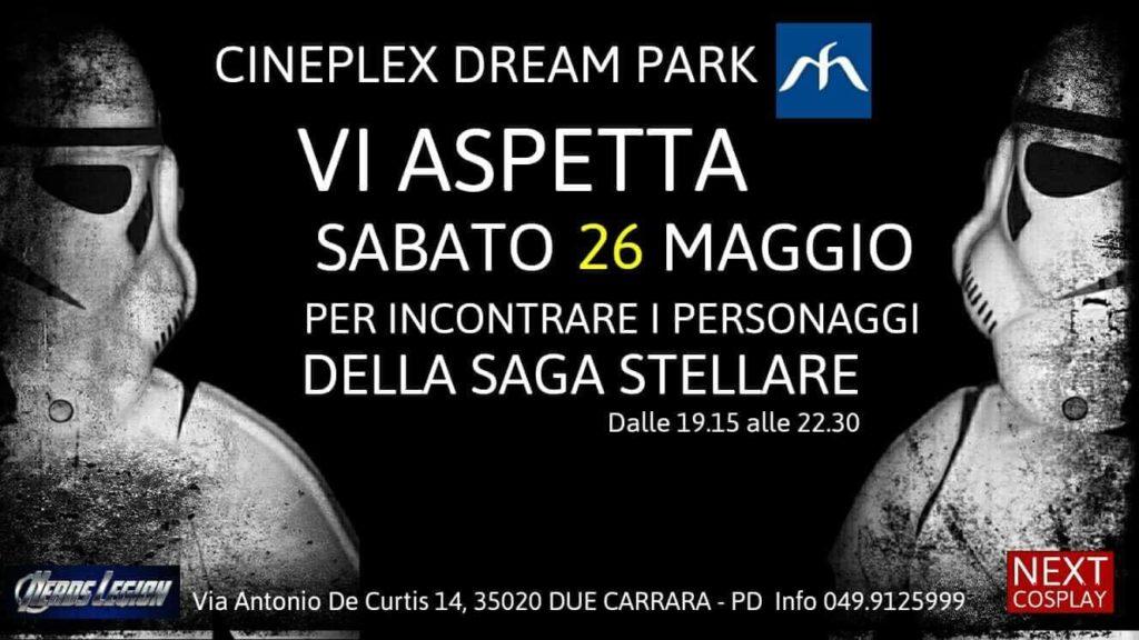 Vi aspettiamo domani presso Cineplex Dream Park