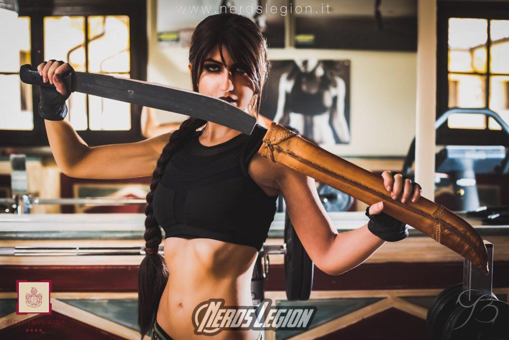 Shooting fotografico Tomb Raider presso Relais Castello Bevilacqua